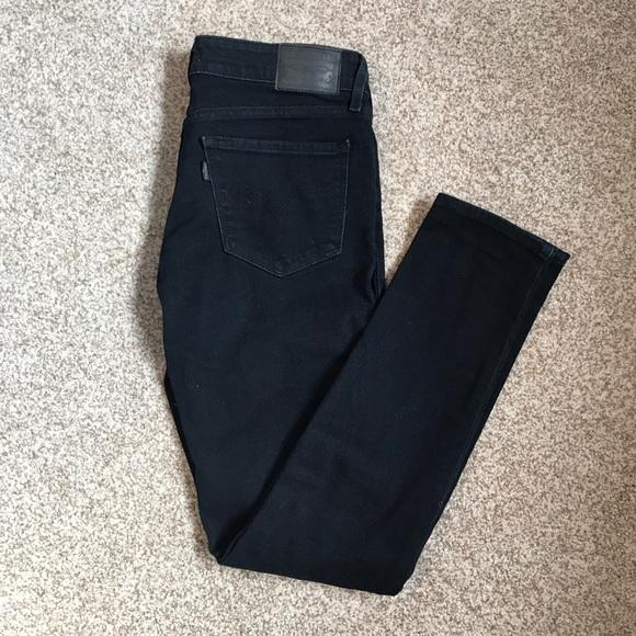 Levi's Pants - Levi 711 Skinny dark blue distressed jeans